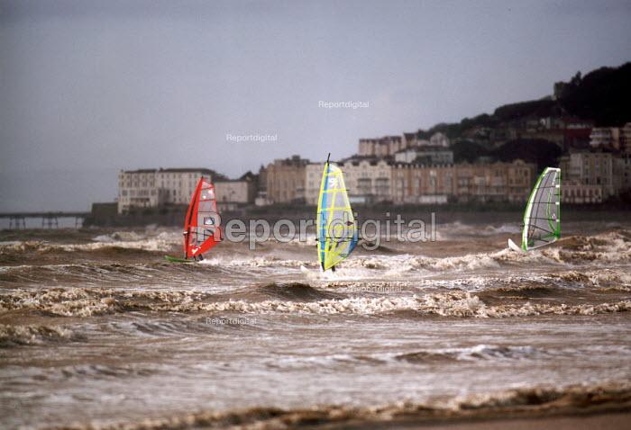 Windsurfers, Weston super Mare. - Paul Box - 2002-09-14