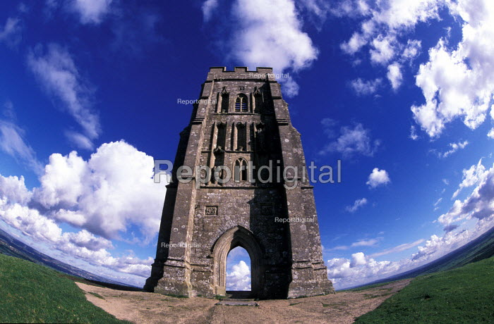 Glastonbury Tor, St Michaels Church Tower - Paul Box - 2002-07-14