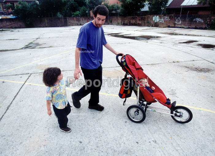 Father and child going for a walk. - Paul Box - 2001-04-07