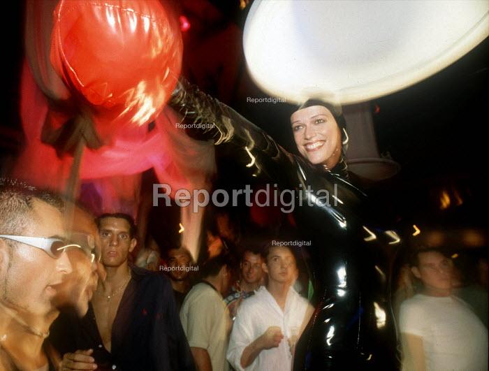 Dancer performing in a nightclub, Ibiza Spain - Paul Box - 2000-07-14