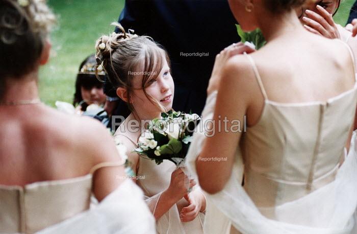 Bridesmaids at wedding in Essex - Paul Box - 2002-06-20