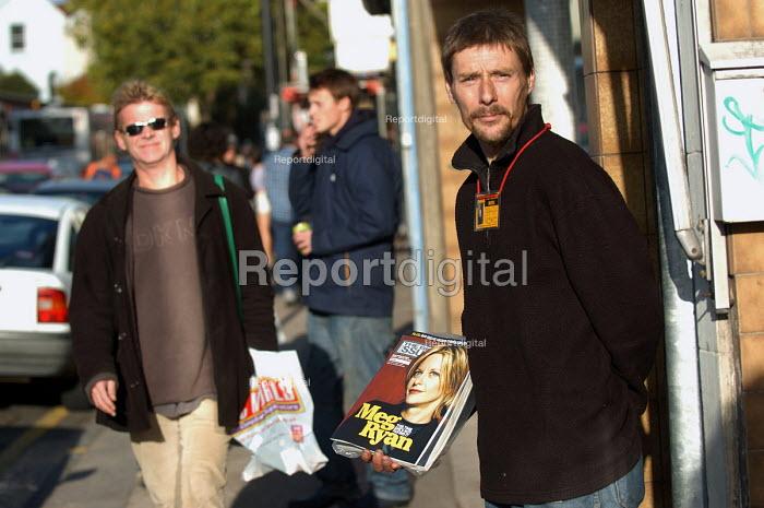 Big Issue seller Clifton Bristol - Paul Box - 2003-10-18