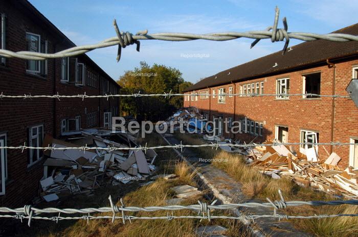 ex army barracks locking, Weston super mare - Paul Box - 2003-10-18