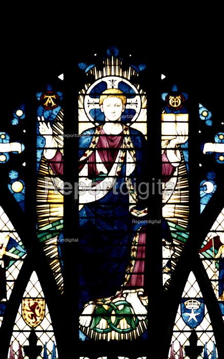 Stained glass church window , Essex - Paul Box - 2002-06-20