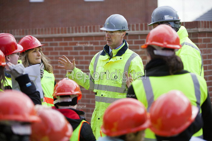 School pupils visiting Charlton Hayes, a new housing development by David Wilson and Barratt Homes, Bristol - Paul Box - 2013-03-12
