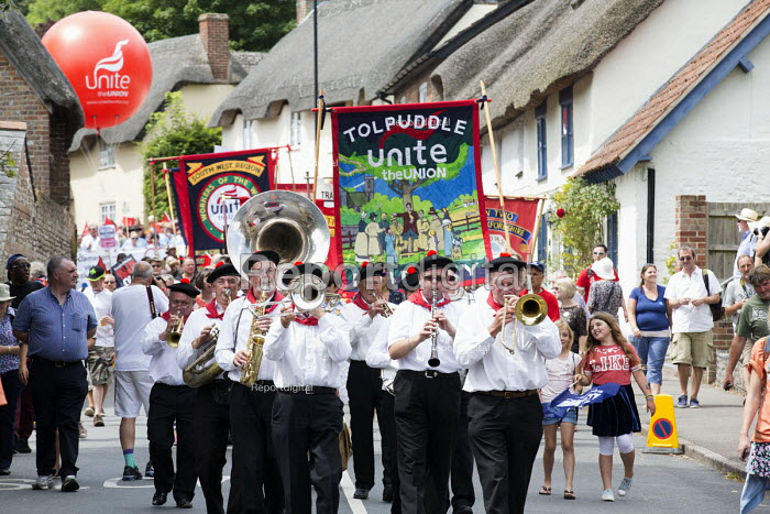 Marching band, Tolpuddle Martyrs Festival 2014 - Paul Box - 2014-07-20