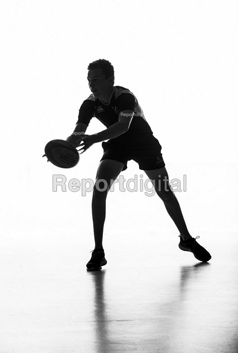Silhouettes of pupils doing sport at Priory school, Weston Super Mare - Paul Box - 2014-06-27