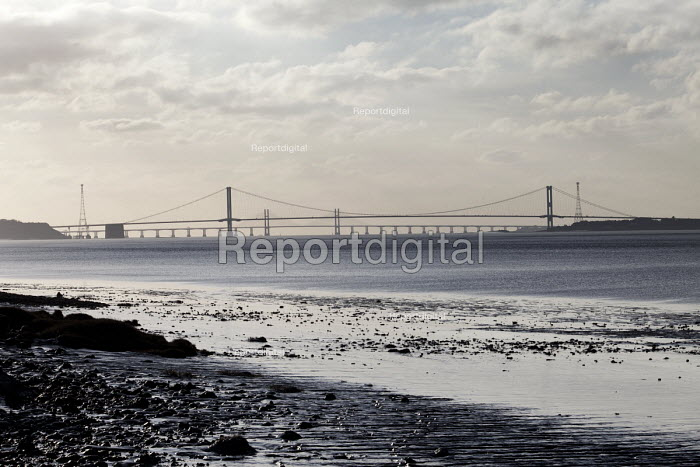 The severn estuary with the new and old bridge in the background. - Paul Box - 2012-01-15