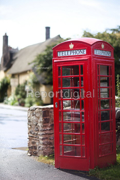 A red telephone box in Bossington, Somerset. - Paul Box - 2011-08-10