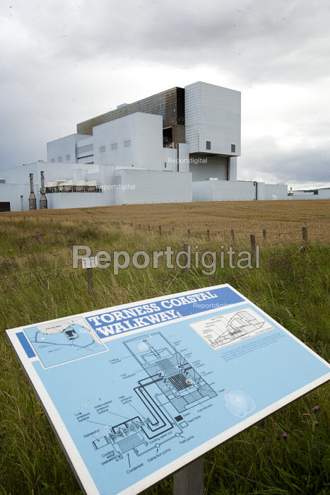 A board explaining how power is generated and how nuclear fisson operates.Torness Nuclear Power Station, Scotland. - Paul Box - 2008-08-10