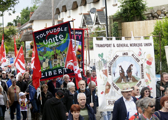 TGWU, Agricultural and Allied workers. Tolpuddle Martys at The Tolpuddle Martyrs festival, Tolpuddle - Paul Box - 2012-07-15
