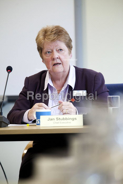 Jan Stubbings chief executive The Board of NHS Gloucestershire attending an extraordinary meeting to decide whether Gloucestershire community health services will be run by an NHS Trust, or opened up to bids from the private sector.They unanimously voted for the NHS Trust. - Paul Box - 2012-10-15