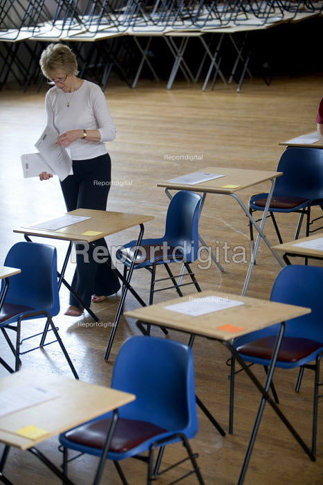Room being made ready for school examinations. - Paul Box - 2005-12-10