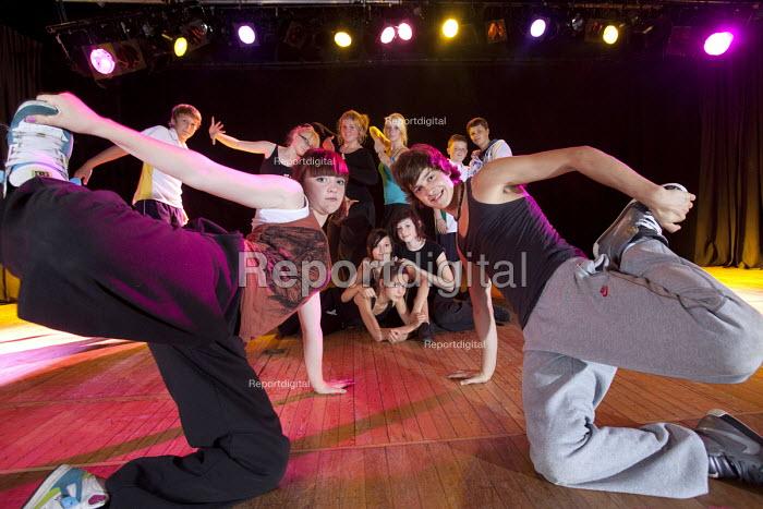 Pupils in a dance class, Clevedon school, Clevedon - Paul Box - 2011-09-13