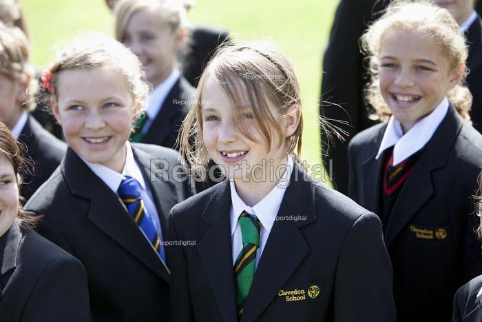 Pupils at Clevedon school, Clevedon - Paul Box - 2011-09-14