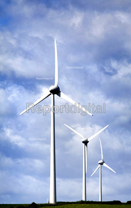 Wind Turbines, Laugharne, Carmarthenshire, West Wales - Paul Box - 2012-06-09