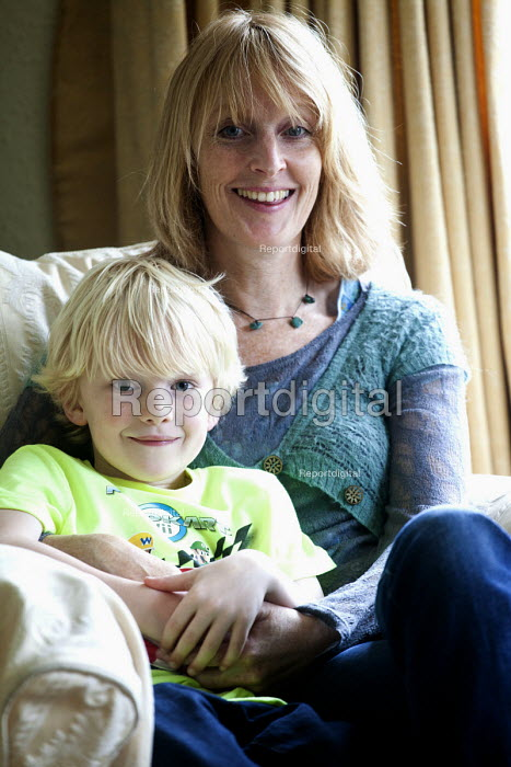 A single mother with her 10 year old son, Guildford. - Paul Box - 2012-06-16