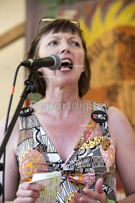 Frances O'Grady TUC Gen Sec speaking at The Tolpuddle Martyrs Festival. Tolpuddle - Paul Box - 2013-07-21