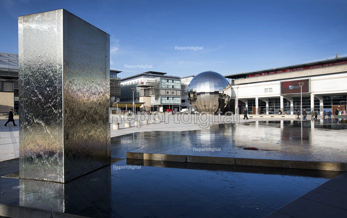 Water feature, At Bristol, Millennium square, Harbourside, Bristol, European Green Capital - Paul Box - 2015-02-03