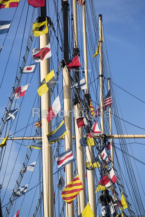 Flag signals, SS Great Britain, Harbourside, Bristol, European Green Capital - Paul Box - 2015-02-03