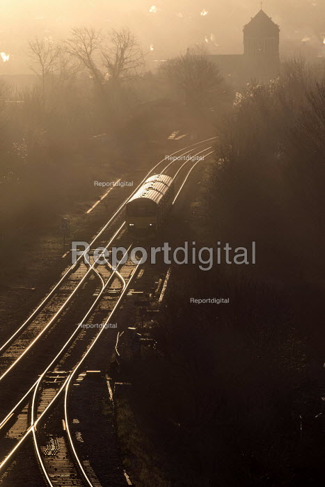 A train in the early morning. St Werburghs, Bristol. European Green Capital. - Paul Box - 2015-01-19