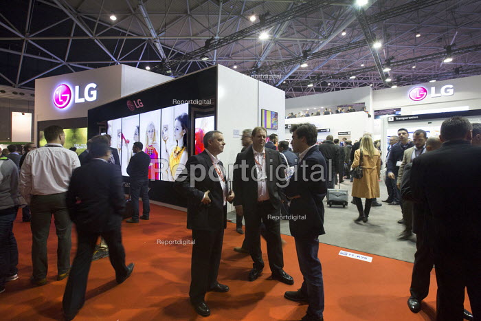 LG stand, Integrated systems Europe 2015, Amsterdam, Holland - Paul Box - 2014-08-29