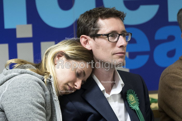 Darren Hall, Greens Party candidate. Bristol West General Election count, Bristol. - Paul Box - 2015-05-08