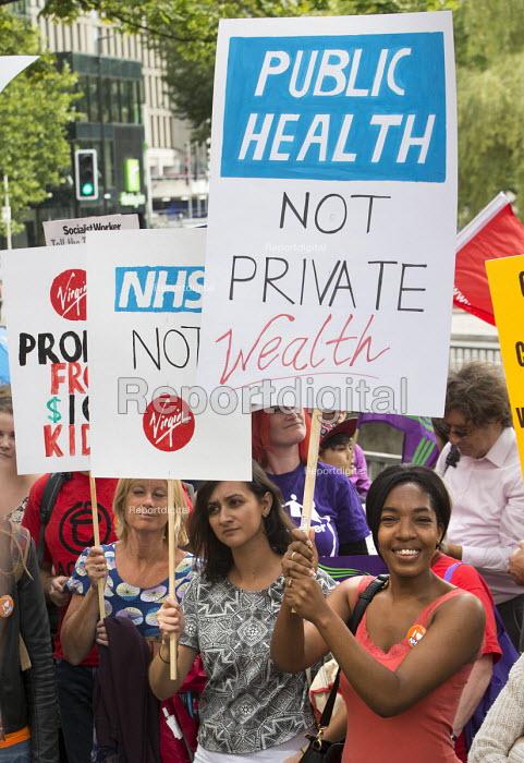 Protest against Virgin Care 28 million privatisation of NHS Childrens services Bristol - Paul Box - 2015-08-26