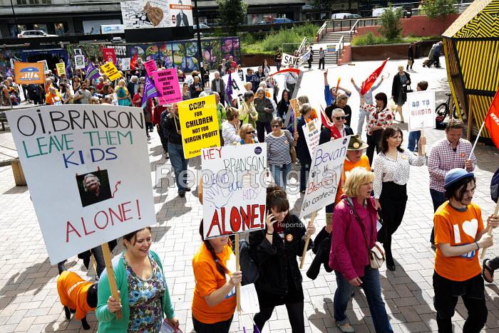 Protest against Virgin Care �28 million privatisation of NHS Childrens services Bristol - Paul Box - 2015-08-26