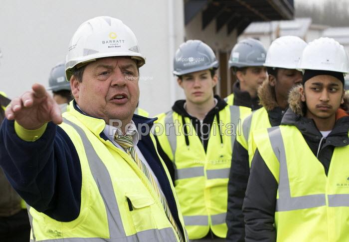 Pupils visit new energy efficient homes, Barratt Homes, Hanham Hall, Bristol - Paul Box - 2015-03-12