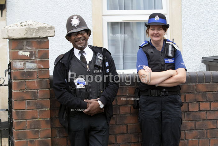 Residents protesting at new resident parking scheme, St Pauls, Bristol. Community police attending. - Paul Box - 2015-06-17