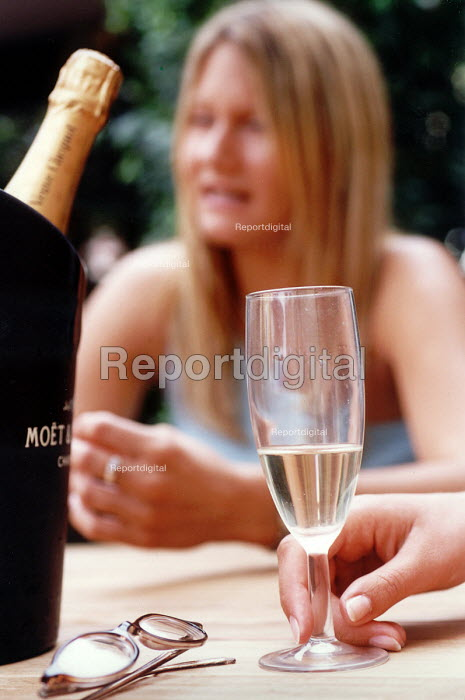 Drinking champaign in the summer. - Paul Box - 2003-07-26