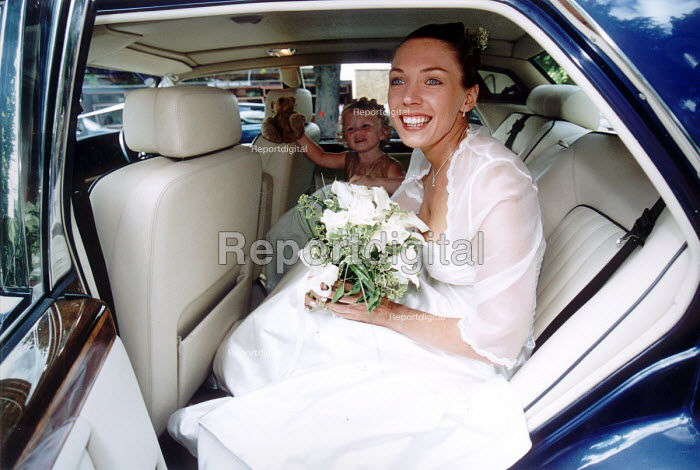 Bride on her way to the wedding. - Paul Box - 2000-07-14