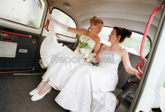 Bridesmaids on their way to the wedding. - Paul Box - 2000-07-14