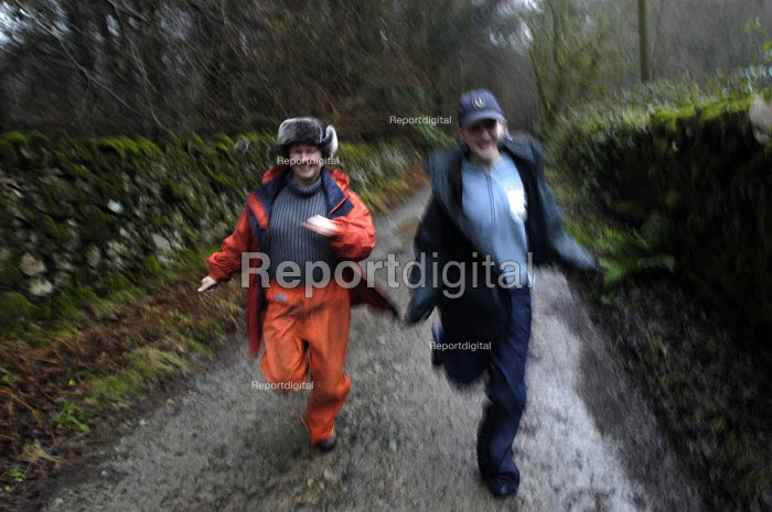 A mother and daughter running in the Lake district - Paul Box - 2004-01-20