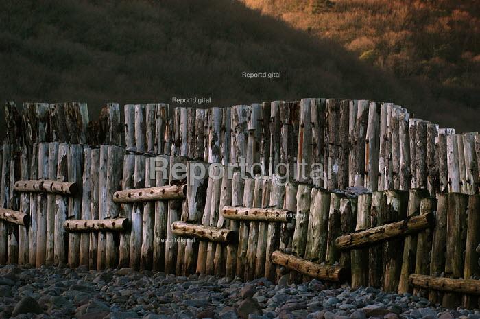 Sea defences Porlock Weir in Somerset - Paul Box - 2004-01-20