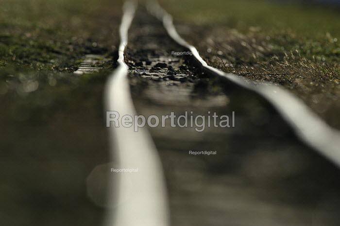 Crooked railway tracks on miniture railway Weston Super Mare - Paul Box - 2002-01-18
