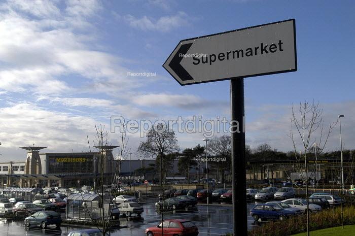 Supermarket sign at Morrisons Bristol - Paul Box - 2002-01-18