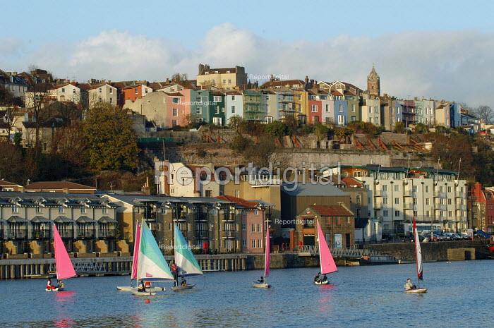 Bristol docks with sailing dinghies - Paul Box - 2003-11-28