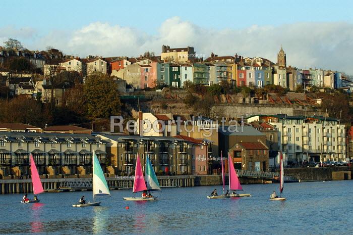 Bristol docks with sailing dinghies - Paul Box - 2003-11-28