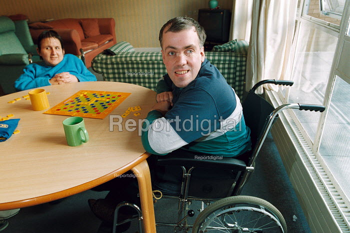 Residents of a disability centre. Council run - Paul Box - 2003-12-01