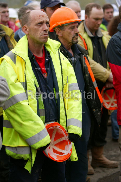 Workers Memorial Day protest at deaths in the construction industry. Wembley London. Organised by the Construction Safety Campaign with the trades unions - Paul Box - 2004-04-28