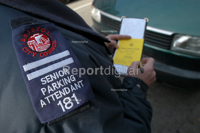 A senior parking attendants badge , Bristol - Paul Box - 2004-03-03