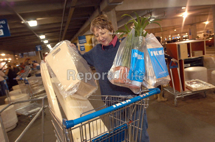 Ikea home furnishing store , loading area. Customers leave with their purchased items. - Paul Box - 2004-05-05