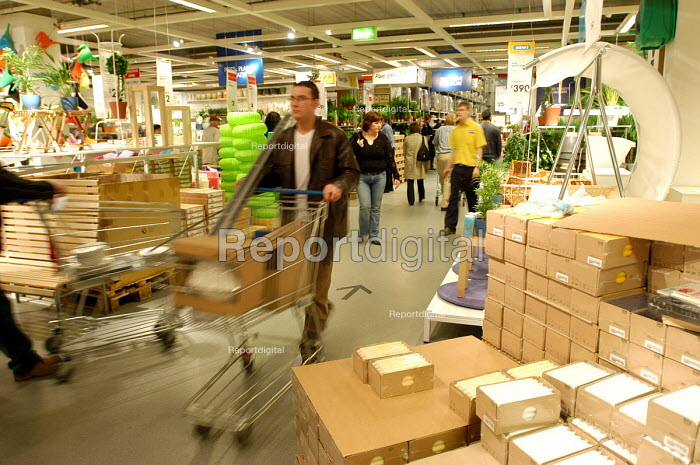 Ikea home furnishing store , customers shopping for home improvements - Paul Box - 2004-05-05