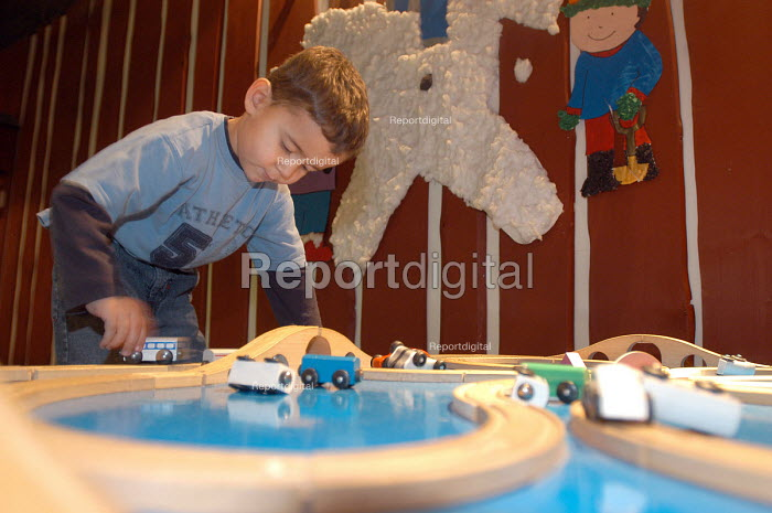 Ikea home furnishing store , a child plays in the instore creche - Paul Box - 2004-05-05