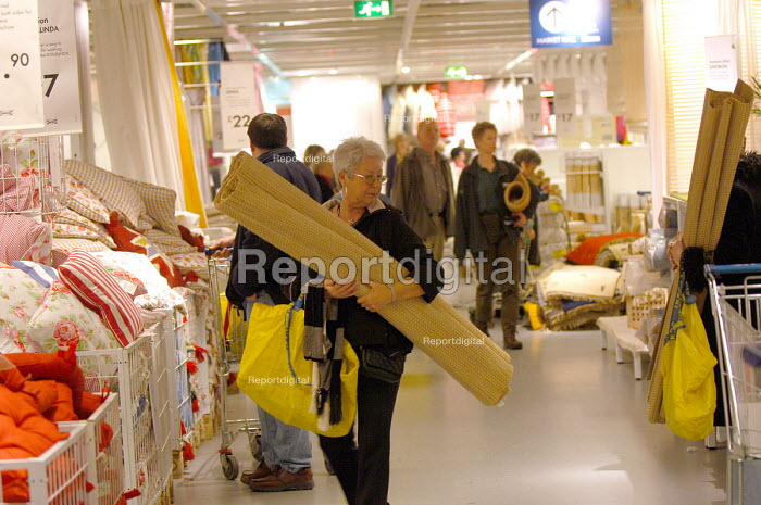 Ikea home furnishing store, customers shopping for home improvements - Paul Box - 2004-05-05