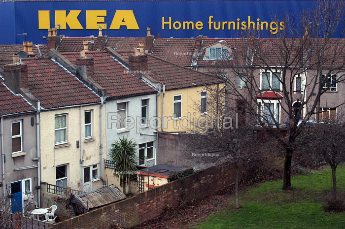Ikea home furnishing store, Bristol. Industrial building in residential area - Paul Box - 2004-05-05