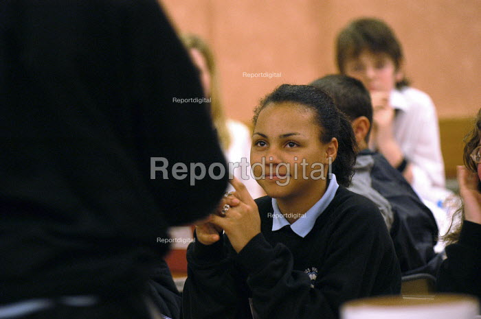 A pupil at a mock election event. - Paul Box - 2004-07-02