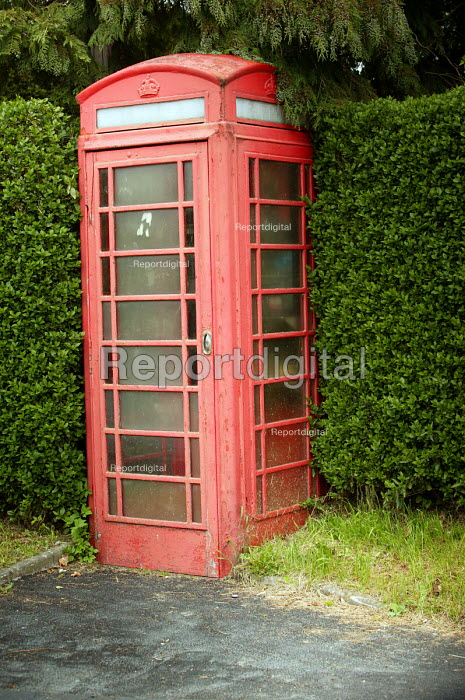 A phone box in the countryside, village. - Paul Box - 2004-07-02